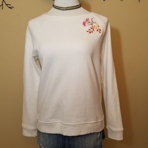 Betsy Johnson Embroidered Sweatshirt M